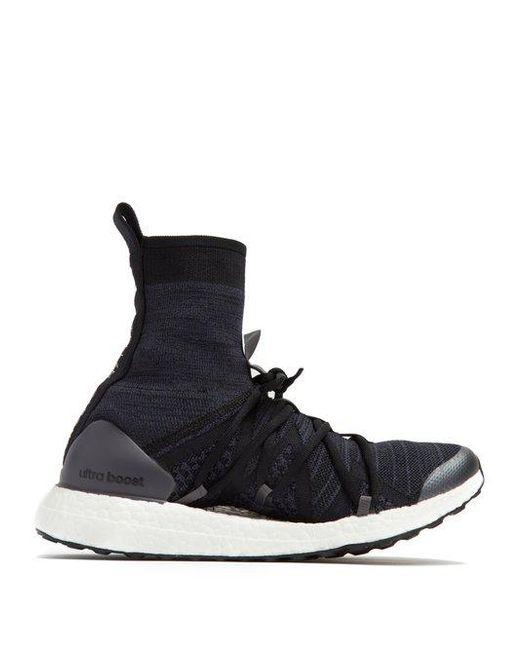 Ultraboost X Mid Logo-print Primeknit High-top Sneakers - Black adidas by Stella McCartney ytT81