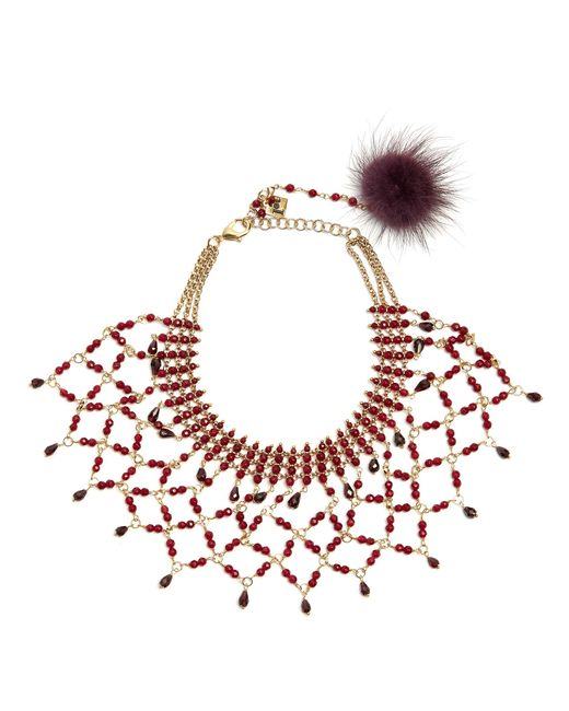 Rosantica By Michela Panero | Red Rete Bead-embellished Necklace | Lyst