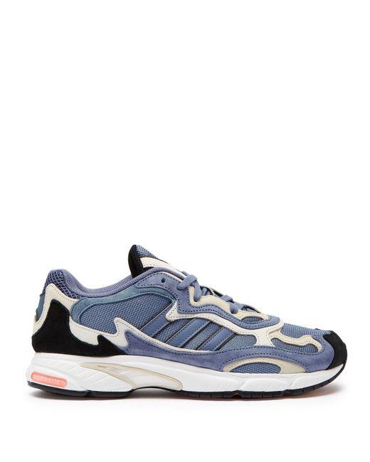 various colors 15cb0 e3bdd Adidas Originals - Blue Temper Run Suede Low Top Trainers for Men - Lyst ...