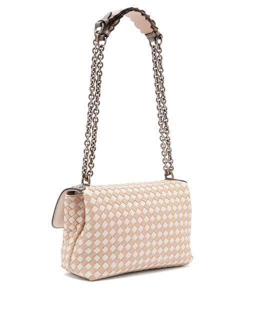 67961d9db9 ... Bottega Veneta - Multicolor Olimpia Small Intrecciato Leather Cross  Body Bag - Lyst ...