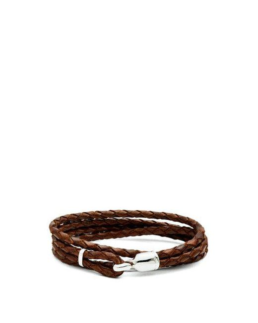 Miansai - Brown Trice Braided-leather Bracelet for Men - Lyst
