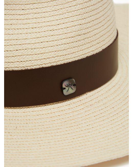 f08f82b9 ... Filù Hats - Natural Batu Tara Bianca Papier Panama Hat - Lyst ...