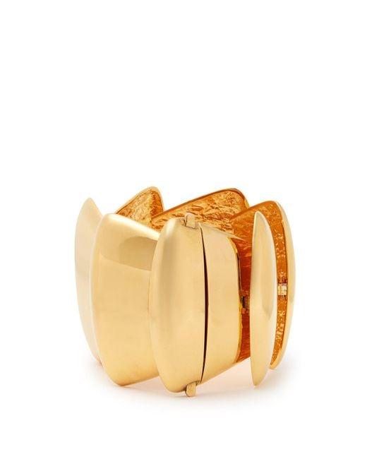 Balenciaga - Metallic Gold Tone Bracelet - Lyst