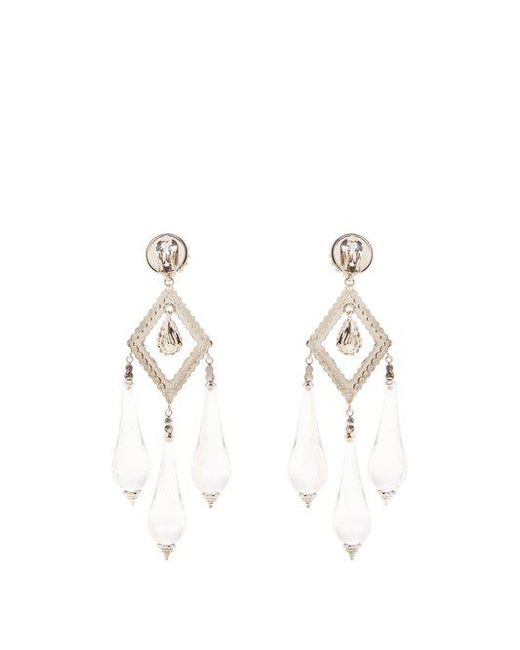 Etro Crystal-embellished teardrop clip-on earrings HmbHMb5