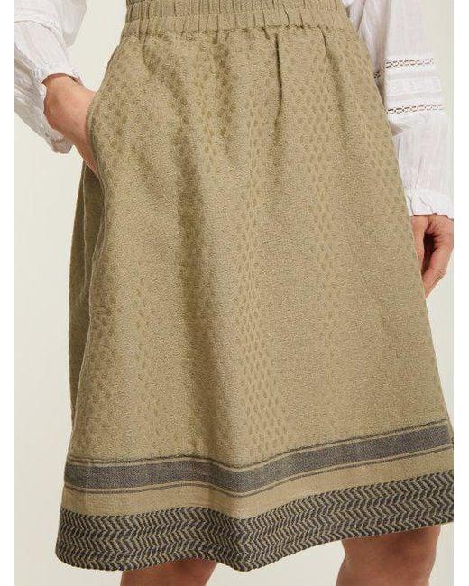 Villablack scarf-jacquard A-line cotton skirt Cecilie Copenhagen Cheap Get To Buy Discount 2018 New Sale Outlet Store Cheap Sale Extremely L7MOE