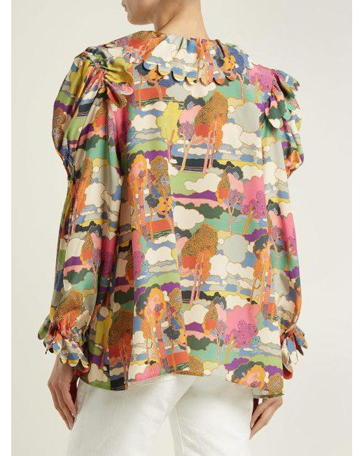 Defensia printed silk blouse Horror Vacui Clearance Amazing Price Clearance How Much ZYEGC