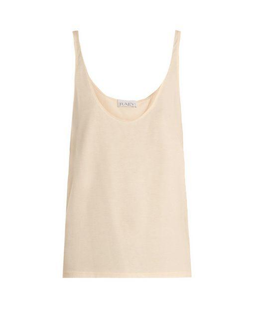 Raey - Natural Skinny-strap Cotton-jersey Vest - Lyst
