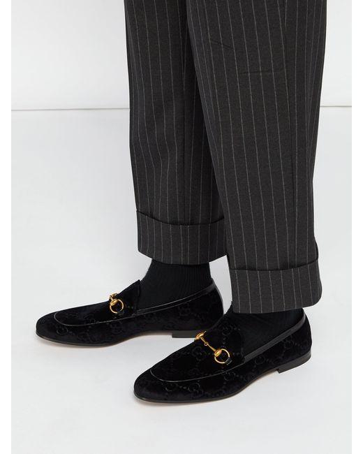 8fbd6489d ... Gucci - Multicolor Jordaan Velvet Loafers for Men - Lyst ...