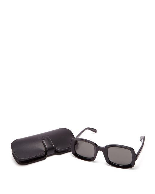 880c6dbb03 ... Saint Laurent - Black Square Acetate Sunglasses for Men - Lyst ...