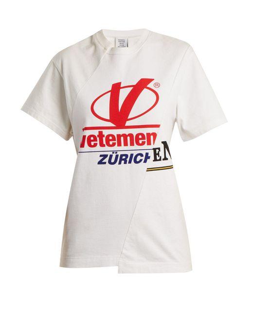 Vetements - White Zurich Reconstructed T-shirt - Lyst