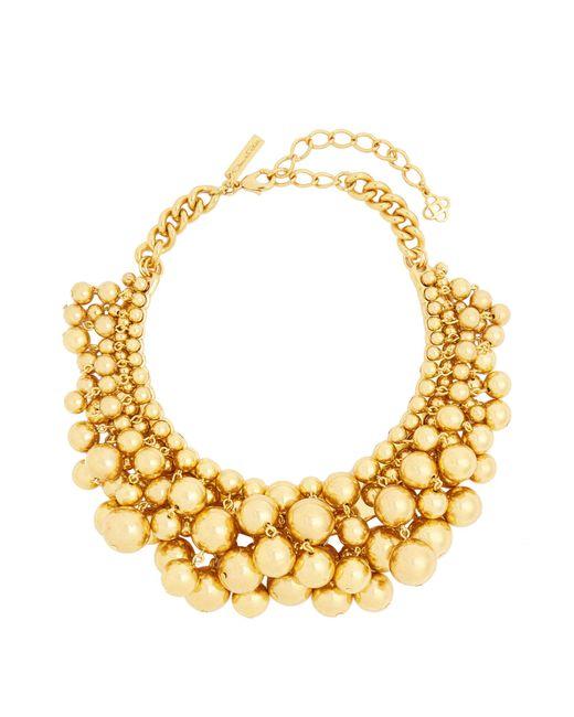 Oscar de la Renta   Metallic Sphere-embellished Necklace   Lyst