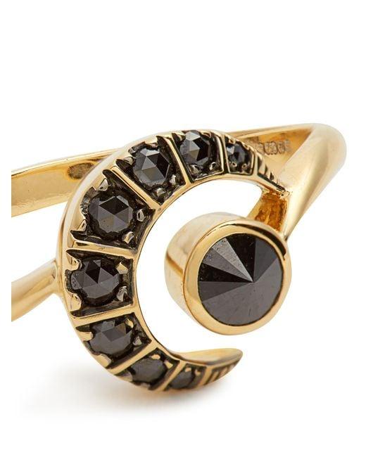 Ara vartanian X Kate Moss Diamond & Gold Ring in Black
