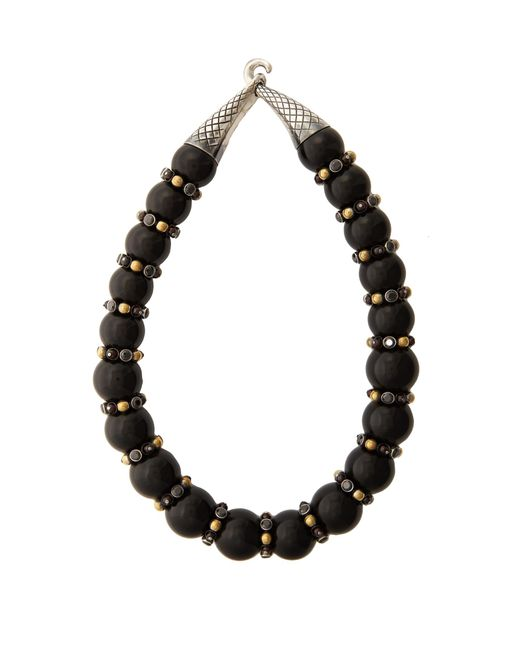 Bottega Veneta | Black Onyx And Cubic-zirconia Necklace | Lyst