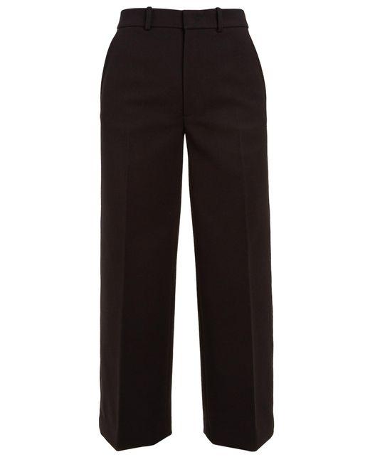 Joseph | Black Ferrandi Wide-leg Cropped Wool-blend Trousers | Lyst