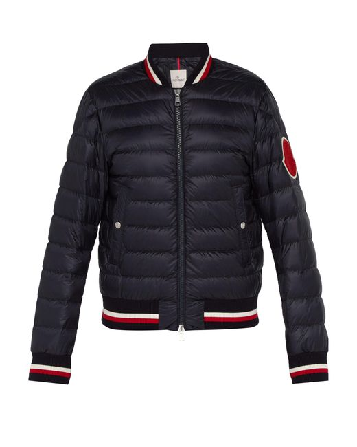 Moncler - Blue Deltour Down Filled Bomber Jacket for Men - Lyst