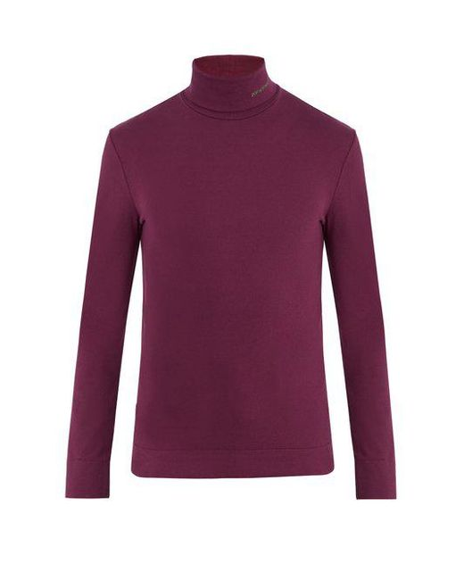 CALVIN KLEIN 205W39NYC - Purple Roll-neck Cotton-jersey Sweater for Men - Lyst