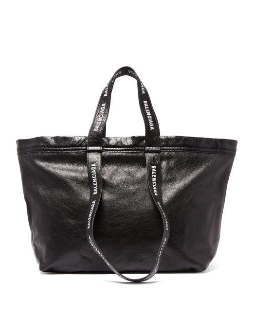 Balenciaga - Black Carry Shopper S Leather Bag for Men - Lyst