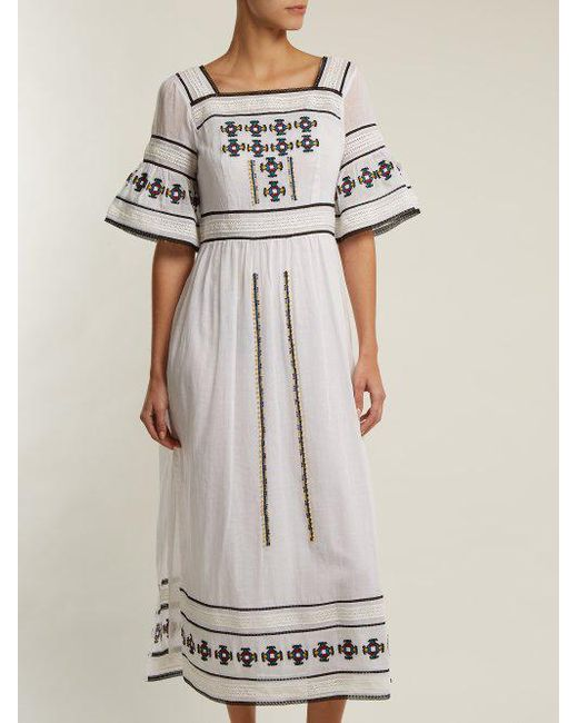 Sarafina embroidered cotton dress Talitha Footlocker Finishline Online Clearance Cheap Explore Discounts Online TE2RY