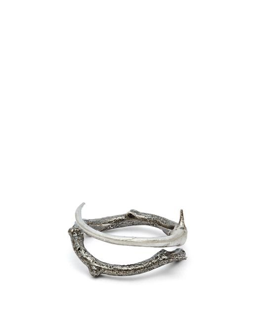 Pearls Before Swine - Metallic Thorn Oxidised Sterling Silver Ring for Men - Lyst