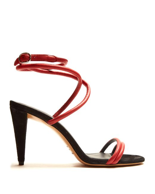 Isabel Marant - Multicolor Abigua Tie-ankle Leather Sandals - Lyst
