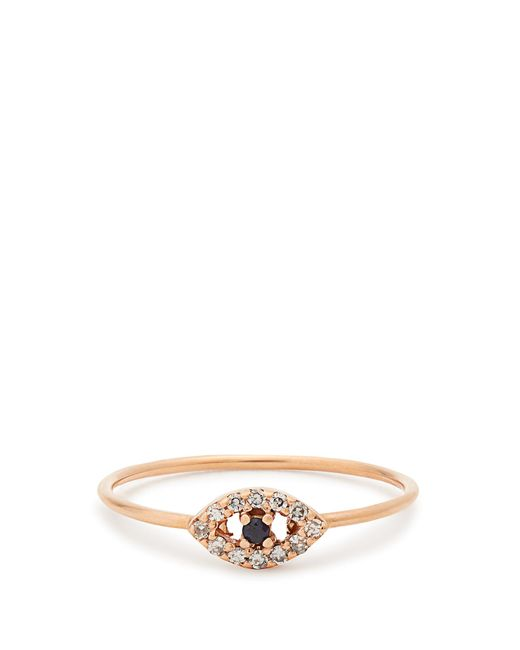 Ileana Makri | Metallic Diamond, Sapphire & Rose-gold Ring | Lyst