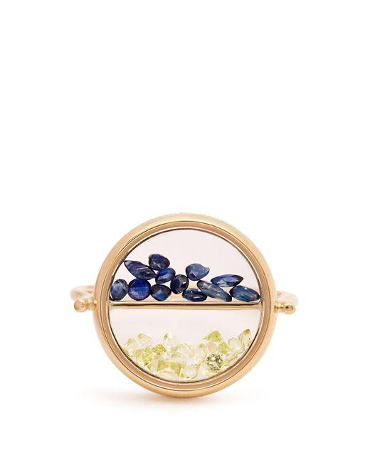 Aurelie Bidermann - Multicolor Sapphire, Peridot & Yellow-gold Ring - Lyst