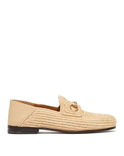 Gucci - Brown Easy Roos Straw Loafers for Men - Lyst