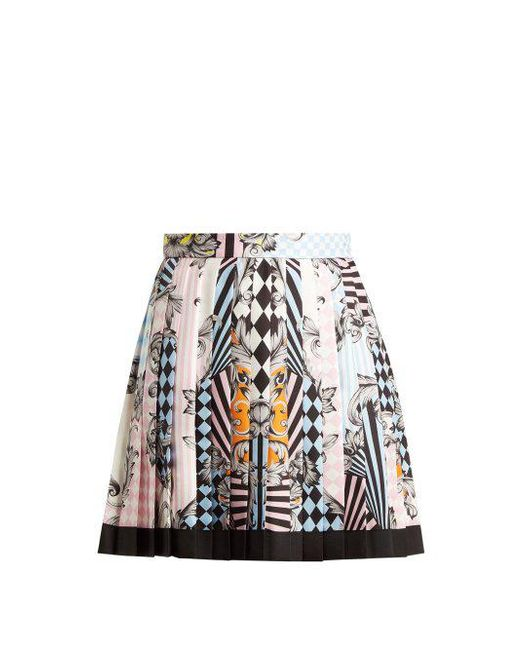 Cheap Clearance Harlequin-print silk skirt Versace Cheap Countdown Package Latest For Sale Discount Limited Edition Purchase Cheap aL45XyTZDC