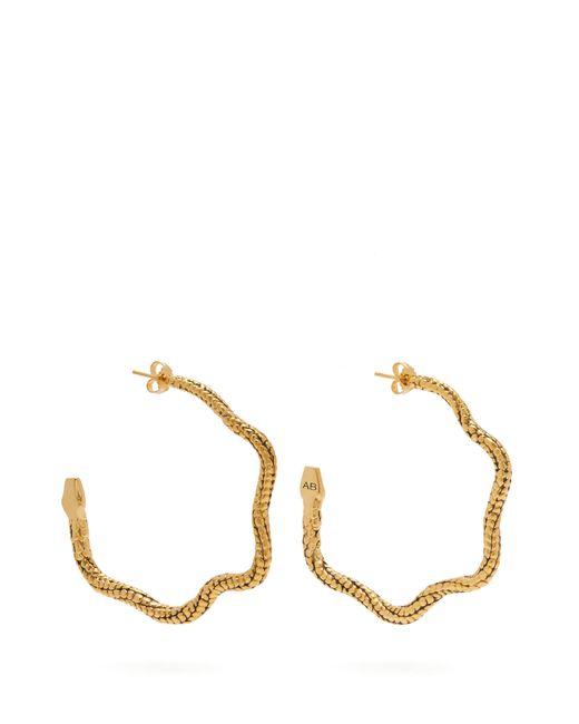 Aurelie Bidermann - Metallic Tao Snake Hoop Earrings - Lyst