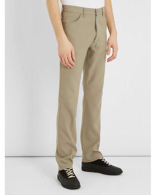 Slim-leg garbadine trousers Maison Martin Margiela TBLvpauM5X