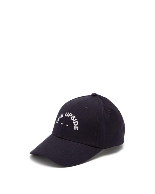 The Upside - Blue Navy Embroidered Cotton Cap for Men - Lyst