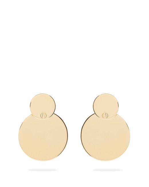 Jil Sander - Metallic Double Circle Mirror Effect Drop Earrings - Lyst