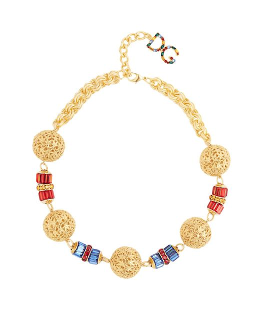 Dolce & Gabbana | Metallic Charm-embellished Necklace | Lyst