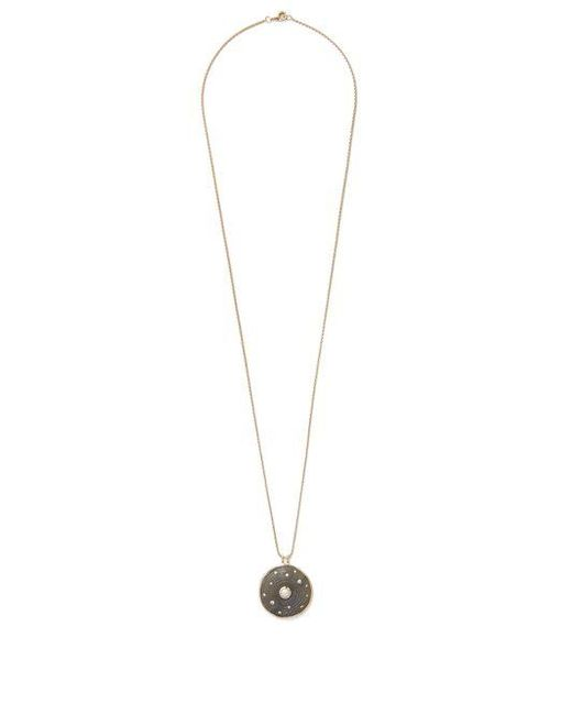 Noor Fares - Blue Diamond, Pearl, Labradorite & Yellow-gold Necklace - Lyst