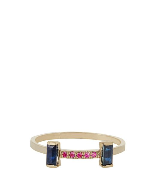 Loren Stewart - Multicolor Sapphire, Ruby & Yellow Gold Ring - Lyst
