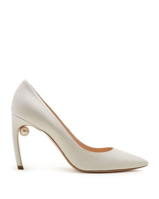 Online Cheap Quality New Cheap Price Beige Mira Pearl Heels Nicholas Kirkwood 100% Guaranteed Cheap Online Low Cost URkZyfyB