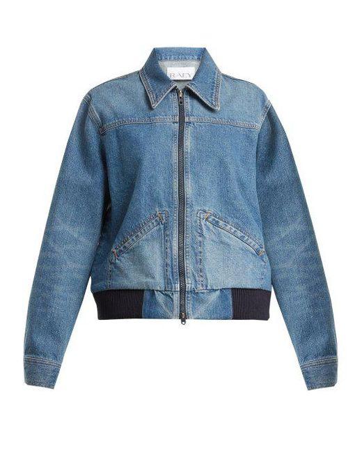 Vintage 1970s denim bomber jacket Raey Cheap Sale Low Shipping Cheap Excellent Rfm7QdeX