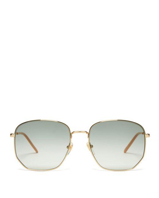 01d1b8e5af1 Gucci - Multicolor Gg Metal Frame Sunglasses - Lyst ...