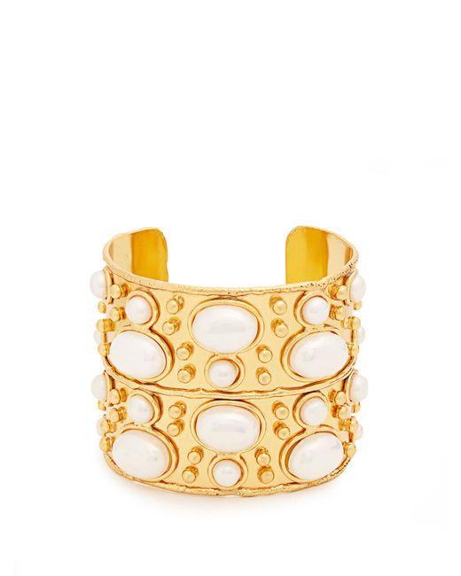 Sylvia Toledano | Metallic Byzantine Medium Gold-plated Cuff | Lyst