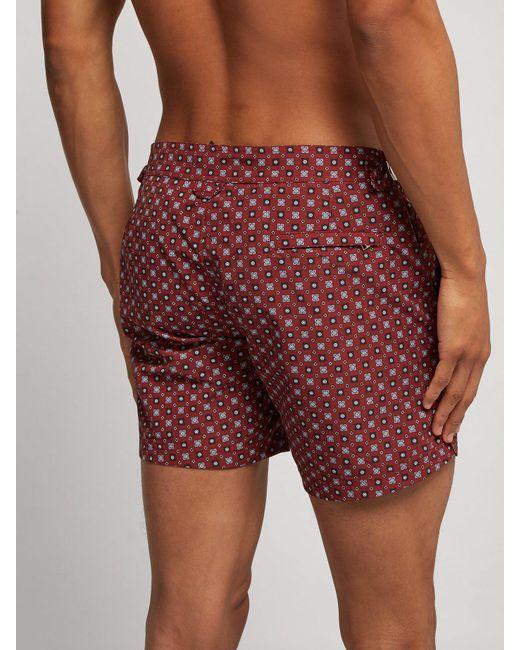 60b4f6f102 ... Alexander McQueen - Multicolor Floral Print Burgundy Swim Shorts for Men  - Lyst ...