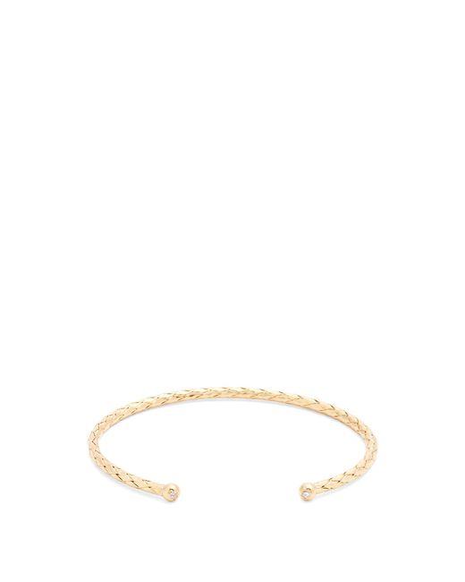 Bottega Veneta | Metallic Intrecciato-engraved Gold-plated Cuff | Lyst