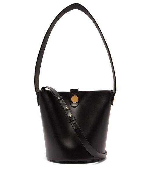 Sophie Hulme - Black Swing Leather Bucket Bag - Lyst