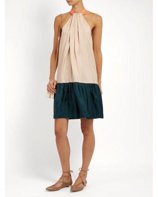 Discount Low Cost For Sale Cheap Online Eliva hatlerneck silk-twill dress Roksanda Ilincic APpUvQen