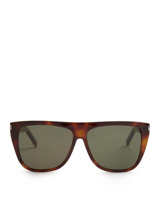 Saint Laurent - Multicolor Flat-top Acetate Sunglasses - Lyst