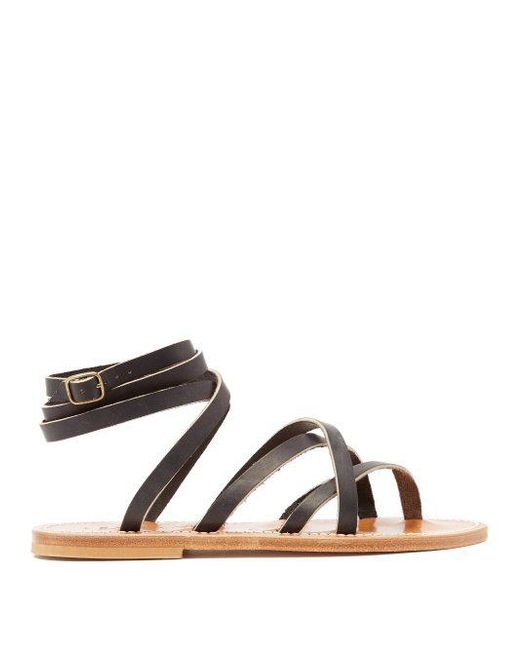 K jacques Zenobie leather sandals Buy Cheap Classic From China Low Shipping Fee Choice Online gRuLw