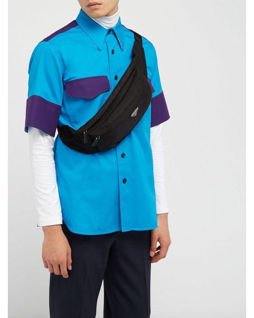 wide selection of designs los angeles fashionable patterns Men's Black Logo Plaque Belt Bag