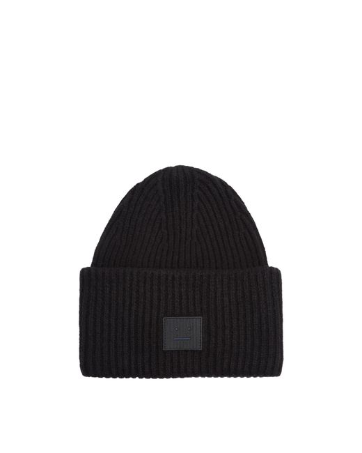 Acne | Black Pansy Face Wool-blend Beanie Hat for Men | Lyst
