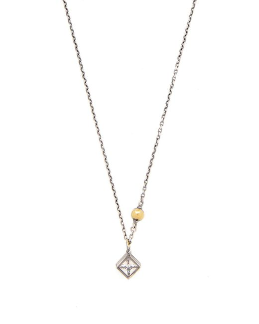 Bottega Veneta - Metallic Sterling Silver & Crystal Necklace - Lyst