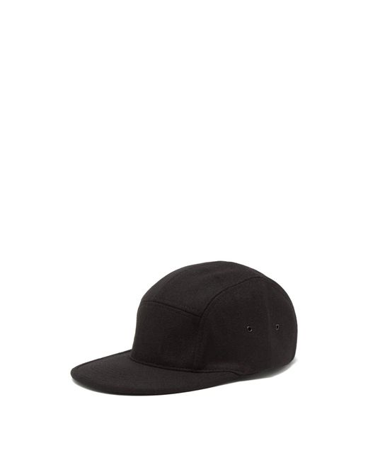 Snow Peak - Black Felted Baseball Cap for Men - Lyst
