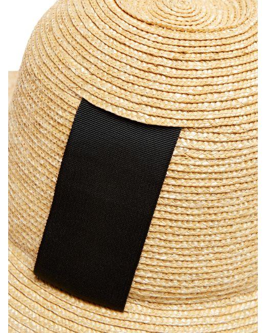 f4e47917ca2 ... Lola Hats - Black Sugar Cone Wide Brim Straw Hat - Lyst ...